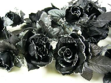 12 best artificial arrangements images on pinterest floral artificial silk flower black rose w glitter garland artificial silk flowers wholesale artificial flowers greenery floral arrangements gt mightylinksfo Choice Image