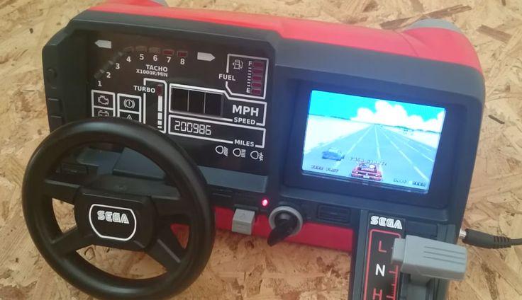 Tomy Turnin' Turbo Dashboard: Μετατρέποντας το σε καμπίνα του Out Run // More: https://hqm.gr/80s-desktop-driving-game-converted-to-play-outrun // #ArcadeGame #CircuitBeard #OutRun #RacingGame #RaspberryPi #Retro #Retrogaming #TomyTurninTurboDashboard #Entertainment #Games #Hardware #Photos #Tech #Toys #Videos