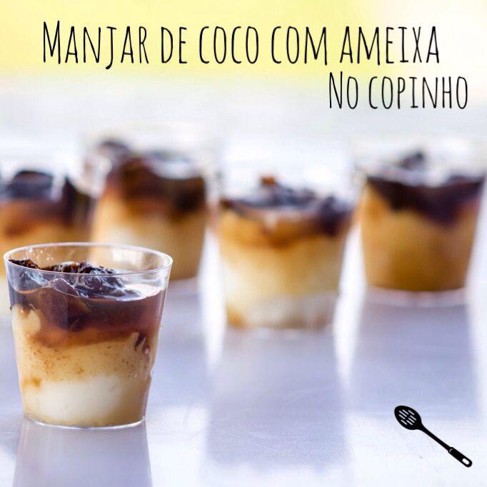 Manjar de coco com ameixa - Maria arteira