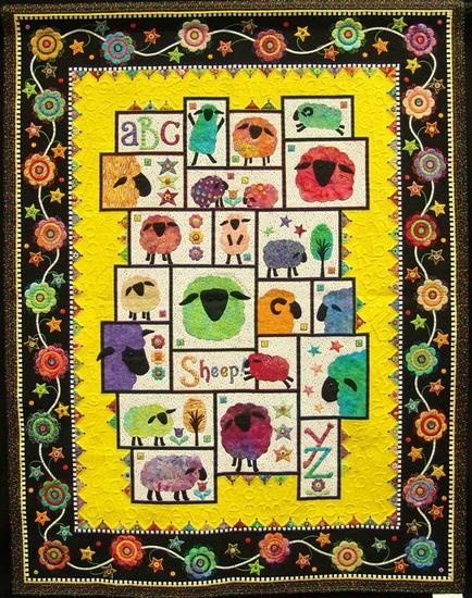 26 best janet stone quilt designer images on pinterest machine appliqued machine quilted a touch of free motion embroidery and embellishments alphabet quilt spiritdancerdesigns Images