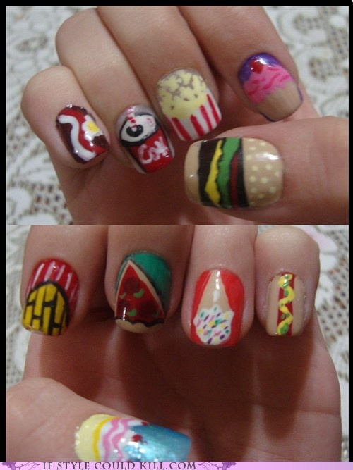 1000+ Images About Food Nail Art On Pinterest