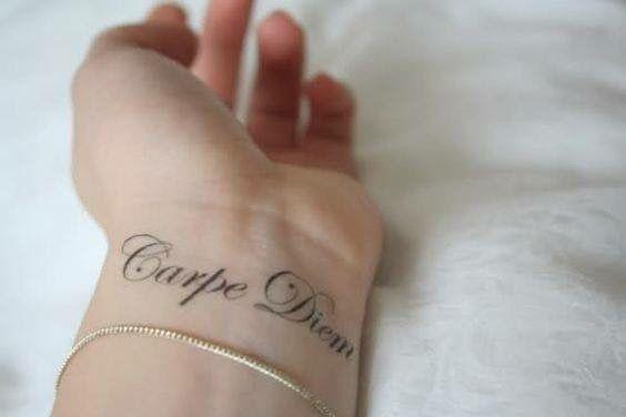 """""""Carpe Diem"""" Seize the day tattoo"""
