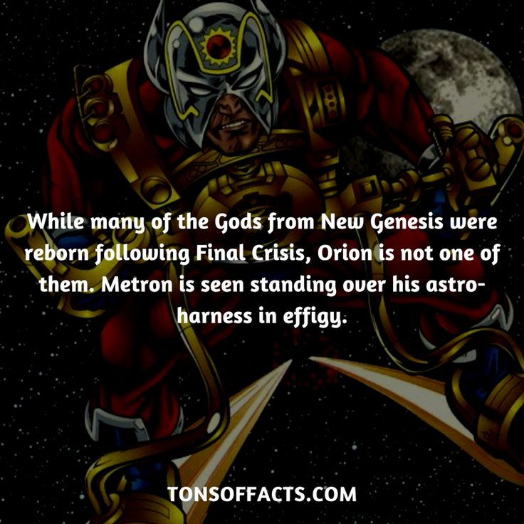 While many of the Gods from New Genesis were reborn following Final Crisis, Orion is not one of them. Metron is seen standing over his astro-harness in effigy. #orion #tvshow #justiceleague #comics #dccomics #interesting #fact #facts #trivia #superheroes #memes #1 #movies #darkseid