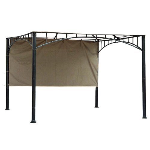 Universal Gazebo Sunshade for 10 Ft. Gazebos by Garden Winds. $39.99. Takes only 5 minutes to install. Order this sunshade together with your replacement canopy to save on shipping.. THIS PRODUCT INCLUDES THE SIDE SUNSHADE ONLY, CANOPY AND METAL STRUCTURE NOT INCLUDED.  Reduce discomfort and sunburns with this easy to install universal gazebo sunshade.. Specially designed Velcro and tie attachments allow this sunshade to fit all 10' x 10' square gazebos.. Block hot afternoon s...