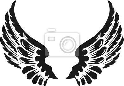 Фотообои абстрактные крылья ангела - коляска • PIXERS.ru