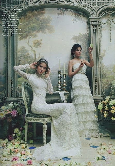 So Pretty!~ so are the dresses.  note: paint faux lattice and background