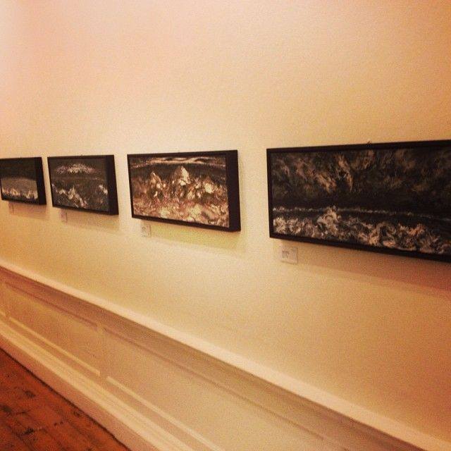 From blank canvas to this work by Maggi Hambling.