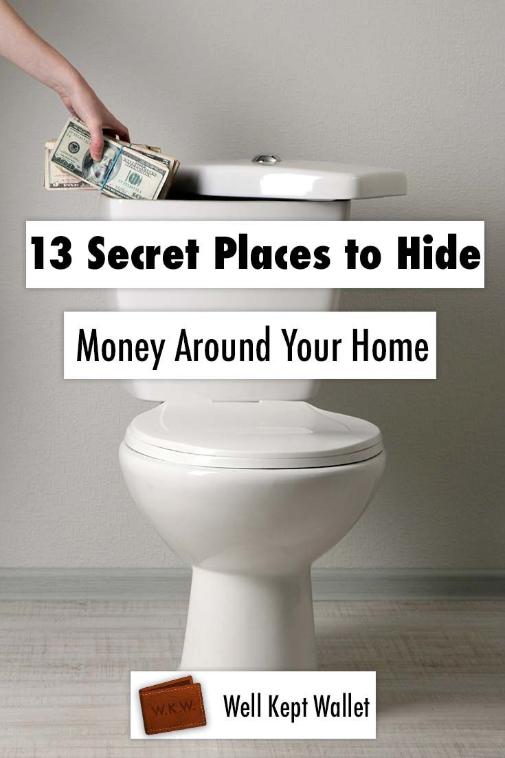13 Secret Places to Hide Money Around Your Home Pin