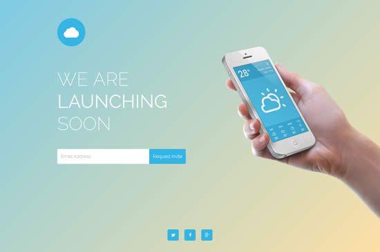 Cloud - Mobile App Coming Soon Responsive Template