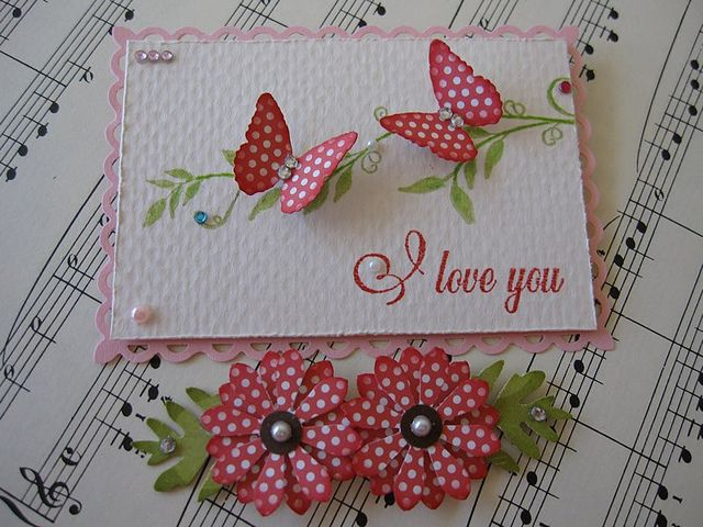 I Love You Butterfly and Flower Embellishments | Flickr - Fotosharing!