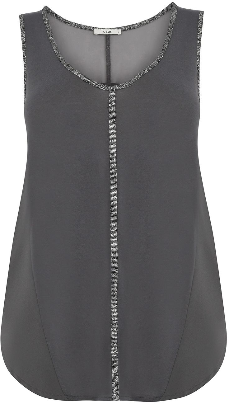 Womens dark grey vest from Oasis - £20 at ClothingByColour.com