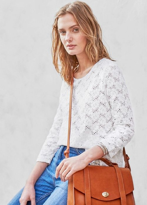 Blouse Daria & Sac Doll // Lookbook Pré-collection Printemps Eté #sezane #sac #doll #blouse #daria #lookbook #precollection #printemps #ete