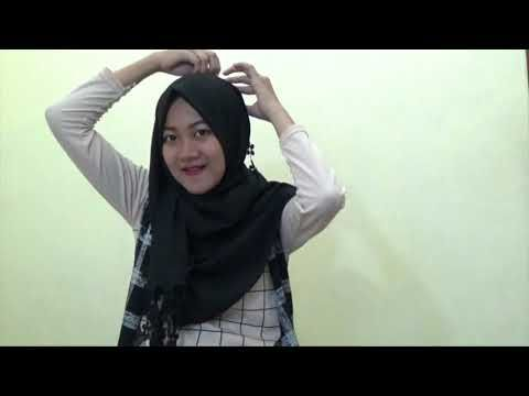 Easy Hijab Tutorials Style Of Rectangle Pashmina Without Inner - YouTube