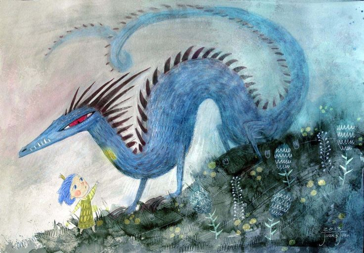 Magic dragon from children dreams