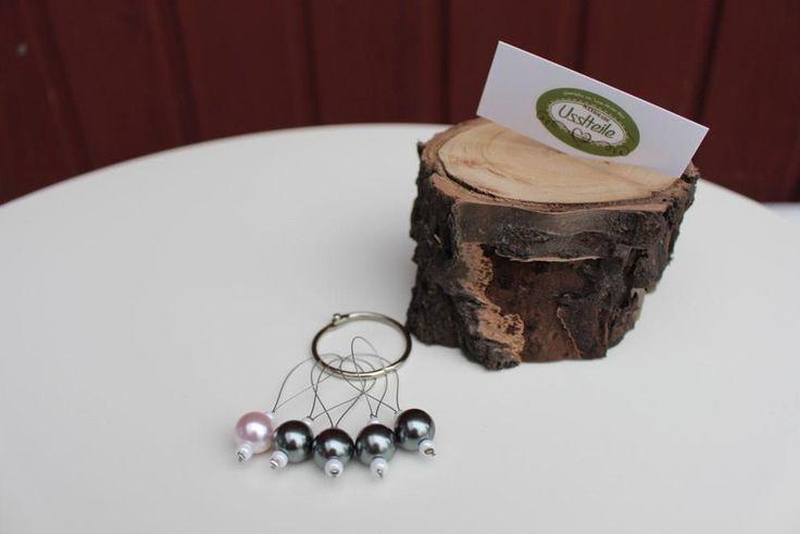 Stricknadeln - Maschenmarkierer graue Perlen - ein Designerstück von Usslteile bei DaWanda