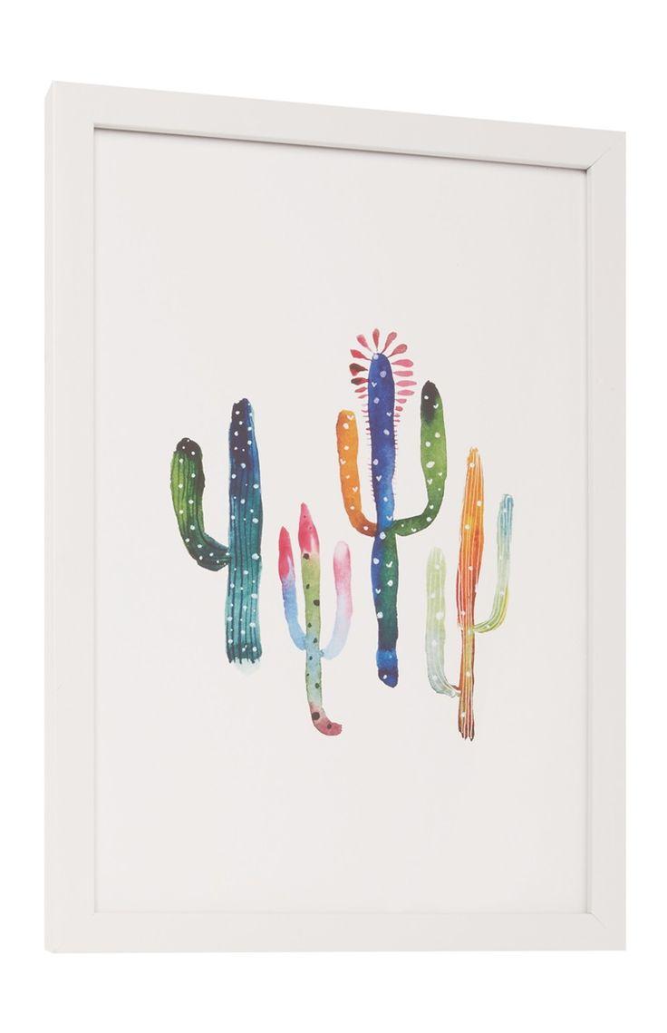 Multi Cactus Framed Print