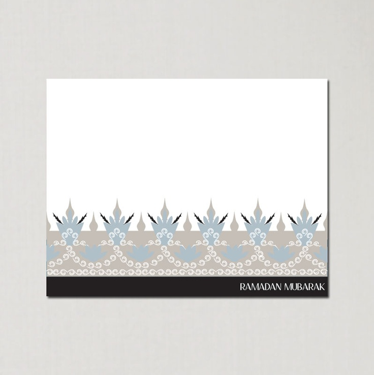 Ramadan Retro Border - Ramadan Greeting Cards by Soulful Moon