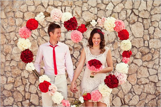 floral heart backdrop