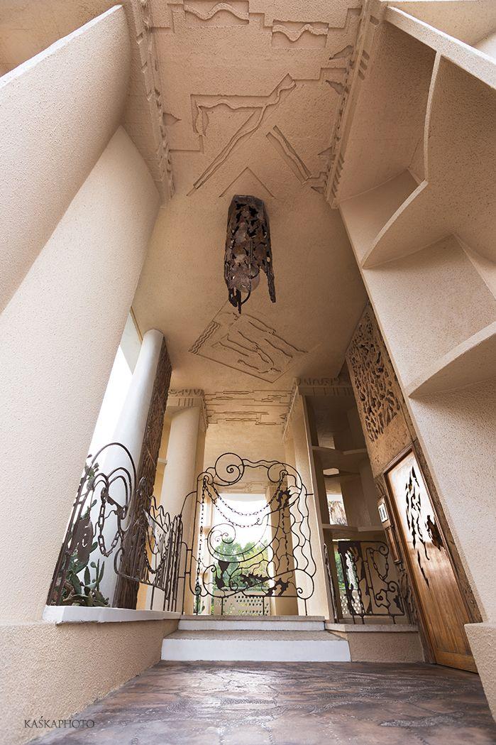 "The entrance to the ""Crazy House"" from 181 Hayarkon Street. photo by Kaśka Sikora  #TelAviv #Hayarkon #realestate #luxuryrealestate #luxuryhomes #luxurylife #designer #decoration #luxuryapartments #art #gaudistyle #architects, #designers"