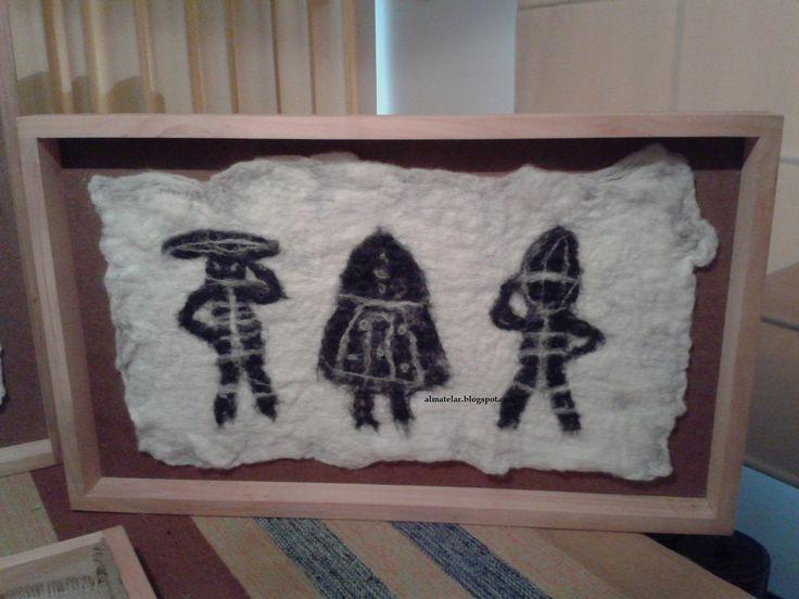 murales y tapices: telares enmarcados