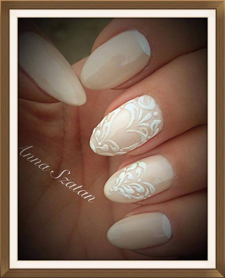 Gel Polish En Vogue + Sugar Effect + Wet Look by Anna Szatan #nails #nail #indigo #sugar #effect #nude #classy #natural #omg #wet #look