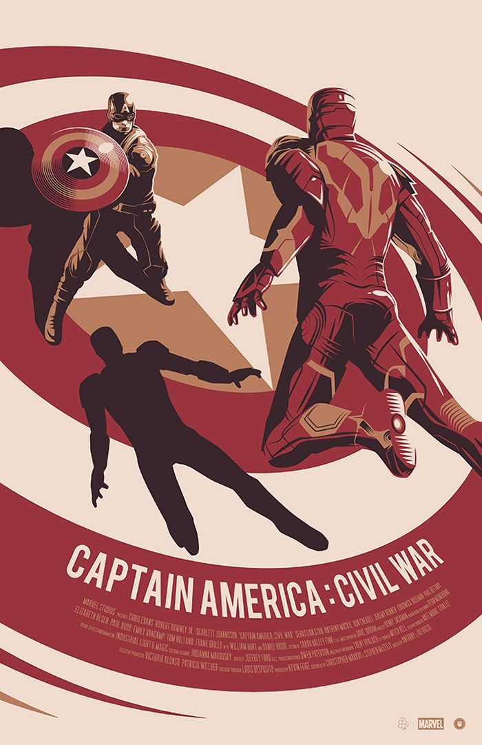 Captain America: Civil War by Thomas Walker - Home of the Alternative Movie Poster -AMP-