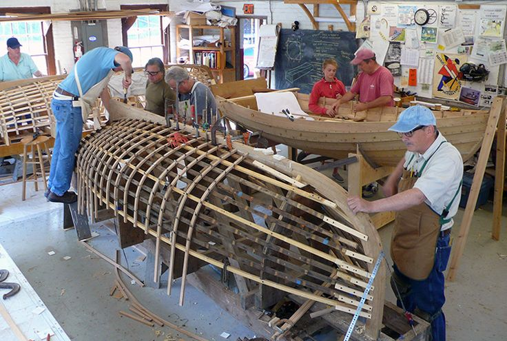 Boatbuilding in the shop
