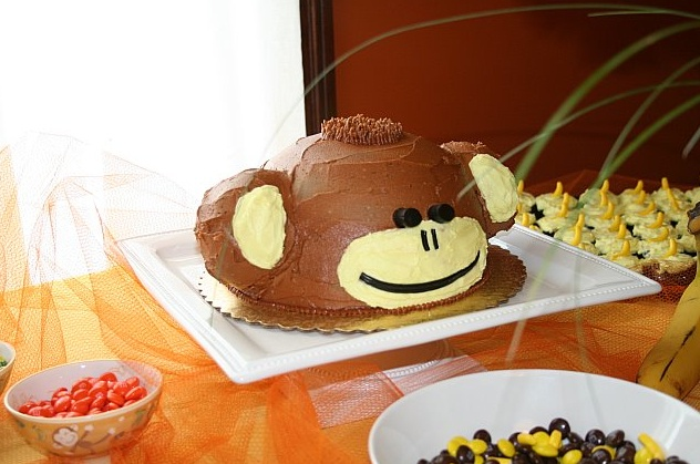 omg, bj's groom's cake, hahahaha: Martha Stewart Recipes, Monkey Cakes, Groom Cake, Grooms Cakes