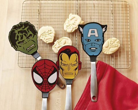 These spatulas not only geek up your kitchen, but they are also made from heat-resistant nylon-silicone head,