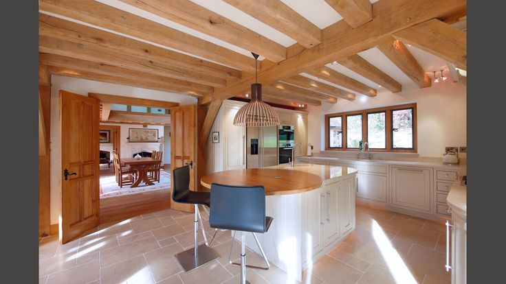 kitchens, modern open plan kitchen and dining area in an Oakwrights home