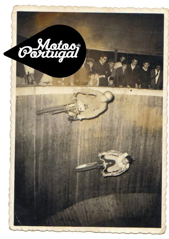 vintage Poço da Morte - Wall of Death in Portugal