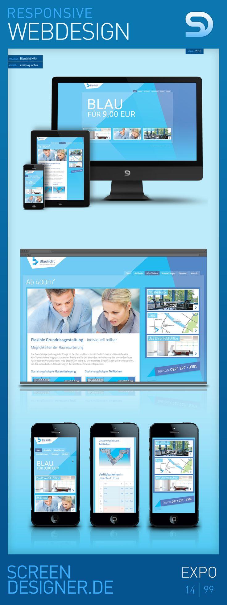 """Responsive Webdesign für das Immobilienprojekt """"Blaulicht Köln"""" - by SCREENDESIGNER.DE"""