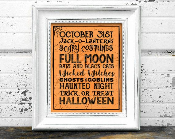 October 31st Halloween Print // Instant Download by Print4Yourself