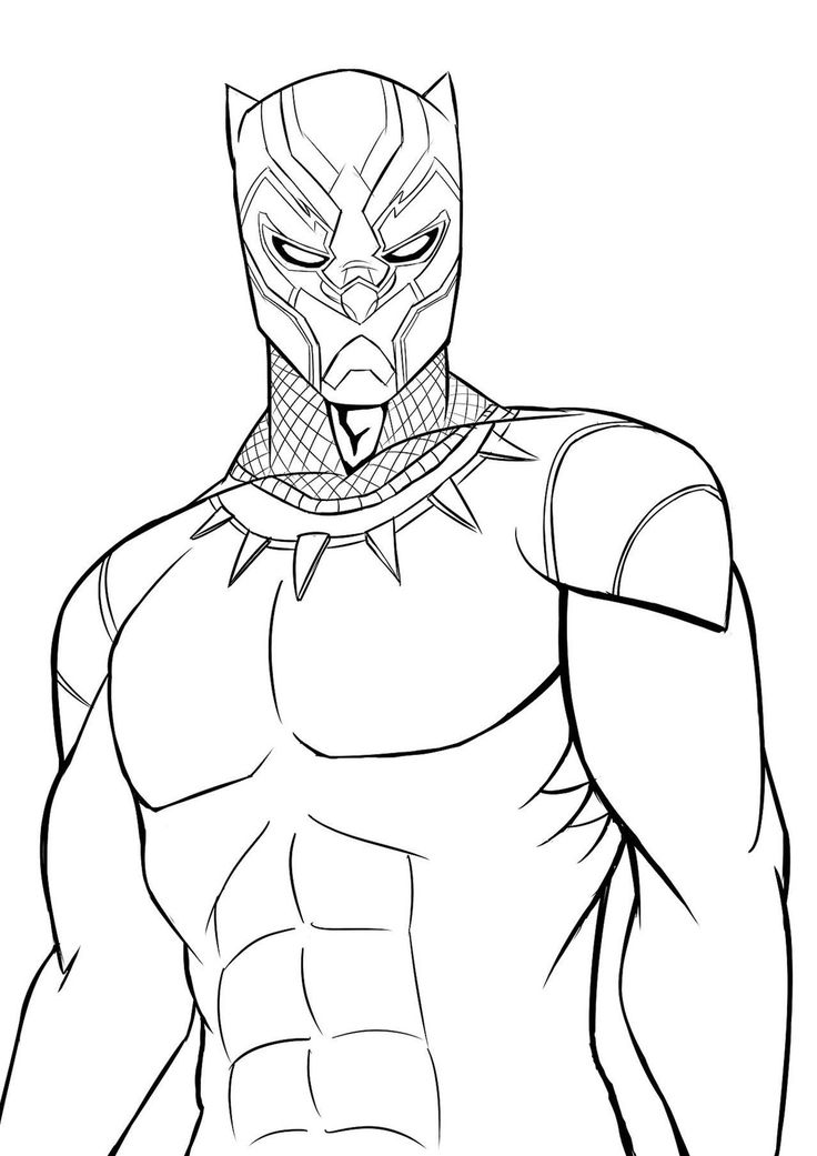 12 disegni di black panther da colorare lapo 2 disegni for Stampe da colorare spiderman