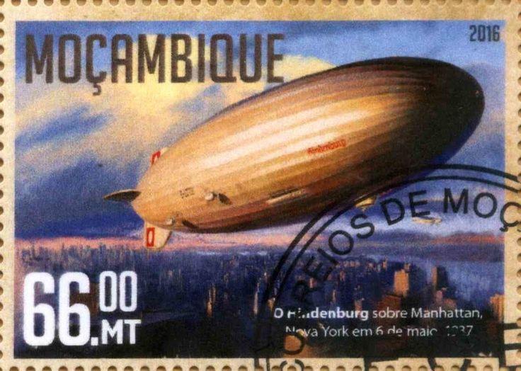 Stamp: LZ129 Hindenburg (Mozambique) Yt:MZ 7002