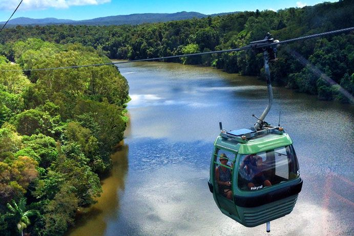 Kuranda Skyrail is just one of the luxuries of the Queensland rainforests #thisisqueensland