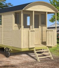 <p> Our Shepherd hut - Gypsy caravan measuring in total 2.41 x 5.01m.  A really large and imposing garden building. It features metal wheels, axles and H frame. A front porch double gate mounted on two way action sprung hinges and railings with ample room inside for a number of applications.</p> <p> Most of our customers will add to this structure,...
