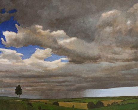 Fernando Puente. Óleo sobre lienzo. Persistencia de la lluvia 1.