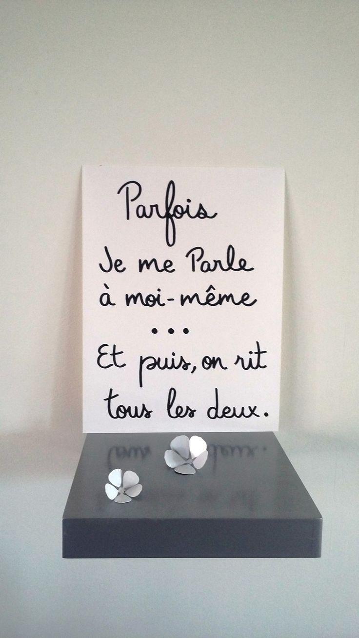 """affiche citation humour """" Parfois je me parle à moi-même..."""" : Affiches, illustrations, posters par stefebricole"""