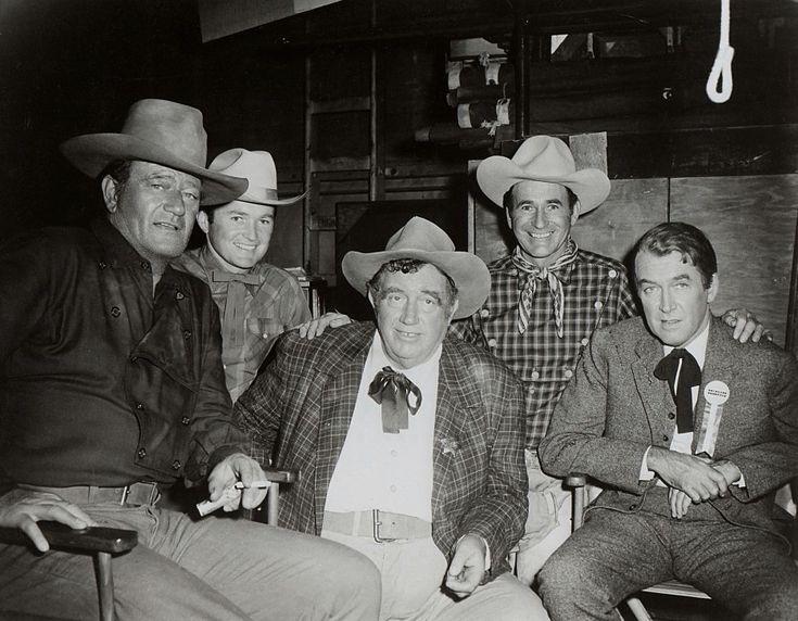 James Stewart John Wayne And Andy Devine In Andy S Gang 1955 John Wayne Movies John Wayne John Ford