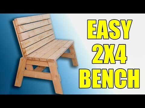 Build This Bench Out of Nothing But 2 x 4s