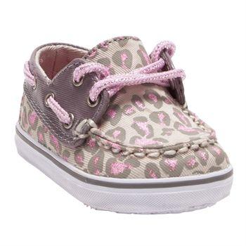 Sperry Top-Sider Girls Crib/1st Walker Leopard Bahama Boat Shoes #VonMaur