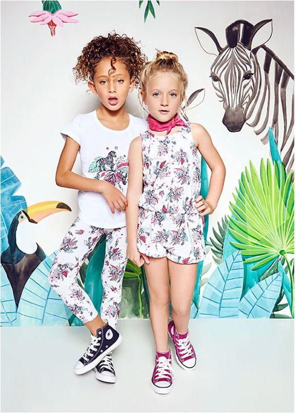 Moda para nenas vestidos, pantalones y remeras primavera verano 2018 Kosiuko Girls.