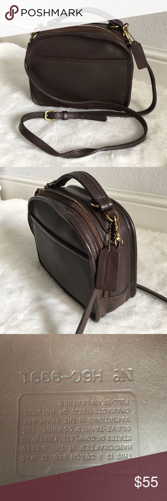 Vintage Coach Legacy Brown Crossbody Bag Vintage Coach Legacy Brown Crossbody Bag. Rare! Signs of wear and patina normal for a bag this age. Creed N. H6C-9991. Please look at pictures for better reference. Happy shopping!! Coach Bags Crossbody Bags