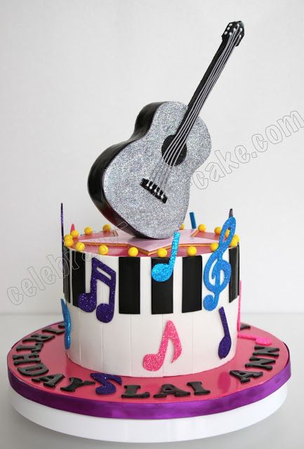 Celebrate with Cake!: Taylor Swift's Glittery Guitar and Piano Cake