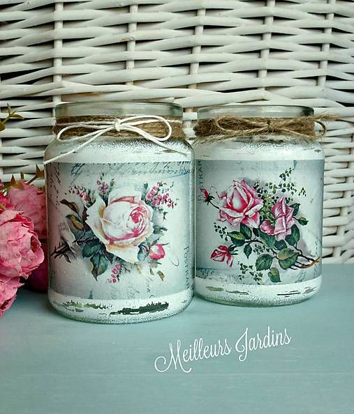 17 best images about garrafas vidros porcelanas e latas for Jardin glass jars
