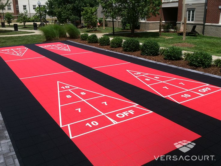 Outdoor Shuffleboard Court – Tiles