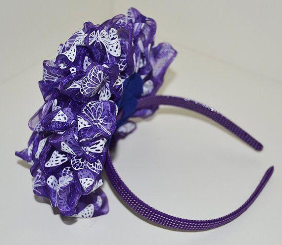 Floral Butterfly pattern headband by Nemchinmarina on Etsy