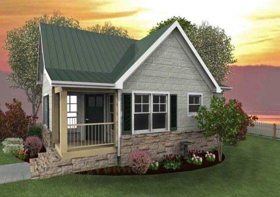 Fachada de peque a casa de campo mini casas pinterest - Modelos de casas de campo pequenas ...