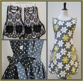 Vintage reproduction aprons